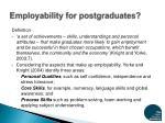employability for postgraduates