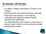graduate attributes ref jenkins a 2009 research teaching linkages enhancing graduate attributes