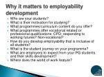 why it matters to employability development