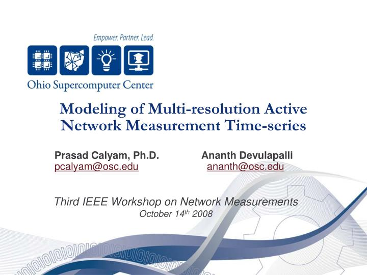 modeling of multi resolution active network measurement time series n.