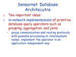 sensornet database architecutre