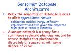 sensornet database architecutre1