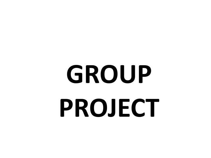 group project n.
