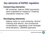key elements of eafrd regulation