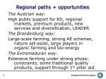 regional paths opportunities