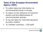 tasks of the european environment agency eea