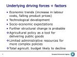 underlying driving forces factors