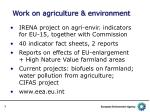work on agriculture environment
