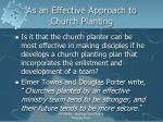 as an effective approach to church planting