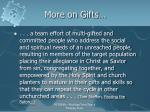 more on gifts