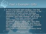 paul s example gifts