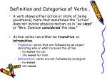 definition and categories of verbs