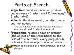 parts of speech1