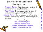 state of being verbs and linking verbs
