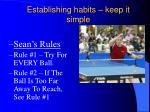 establishing habits keep it simple