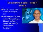 establishing habits keep it simple1