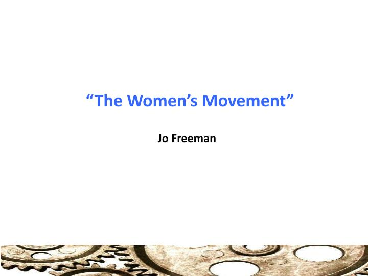 the women s movement n.