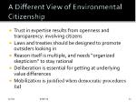 a different view of environmental citizenship
