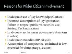 reasons for wider citizen involvement