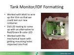 tank monitor idf formatting