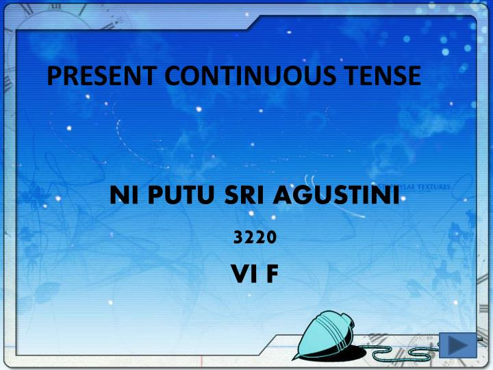 present continuous tense n.