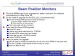 beam position monitors