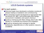 lcls controls systems