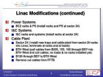 linac modifications continued1