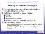 testing checkout strategies