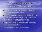 oecd recommendations academic self governance