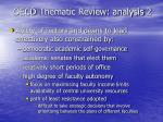 oecd thematic review analysis 2
