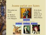 jeanne parlait aux saints