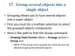 17 group several objects into a single object