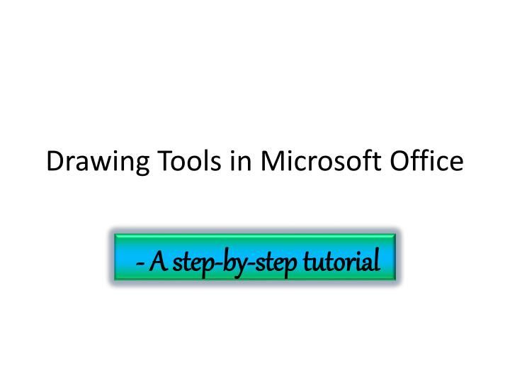 drawing tools in microsoft office n.