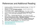 references and additional reading