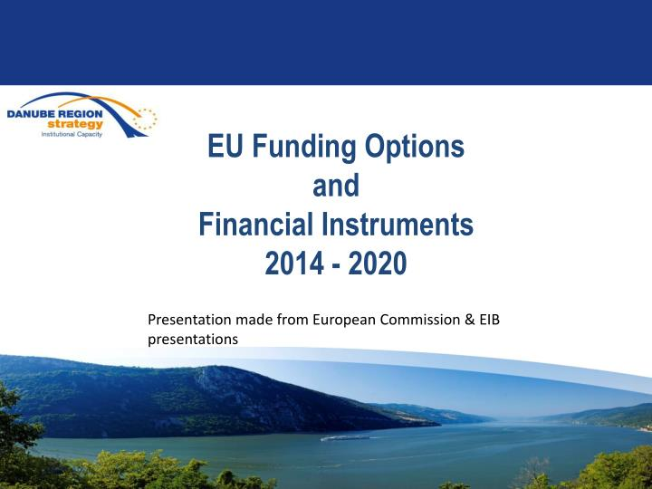 eu funding options and financial instruments 2014 2020 n.