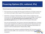 financing o ptions eu national ifis