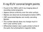 x ray euv coronal bright points
