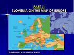 part 1 slovenia on the map of europe