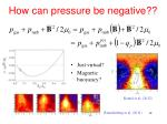 how can pressure be negative