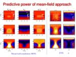 predictive power of mean field approach