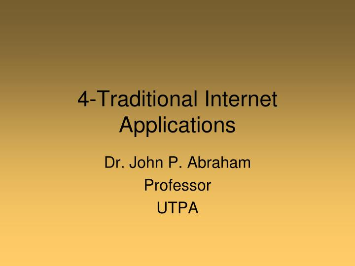 4 traditional internet applications n.