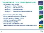 focus areas of predetermined objectives1