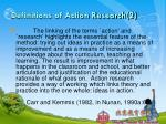 definitions of action research 2