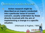 definitions of action research