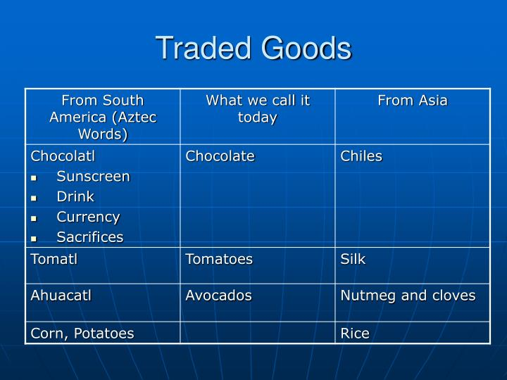 Traded Goods
