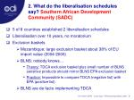 2 what do the liberalisation schedules say southern african development community sadc