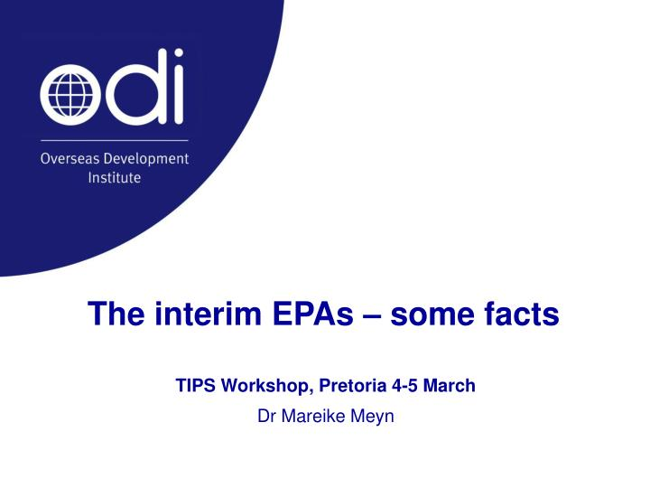 the interim epas some facts n.