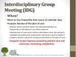 interdisciplinary group meeting idg2