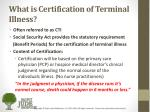 what is certification of terminal illness